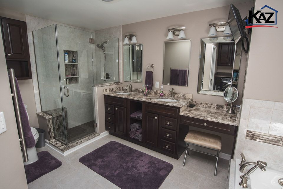 Large Master Bathroom by Kaz Companies in Buffalo, NY ...