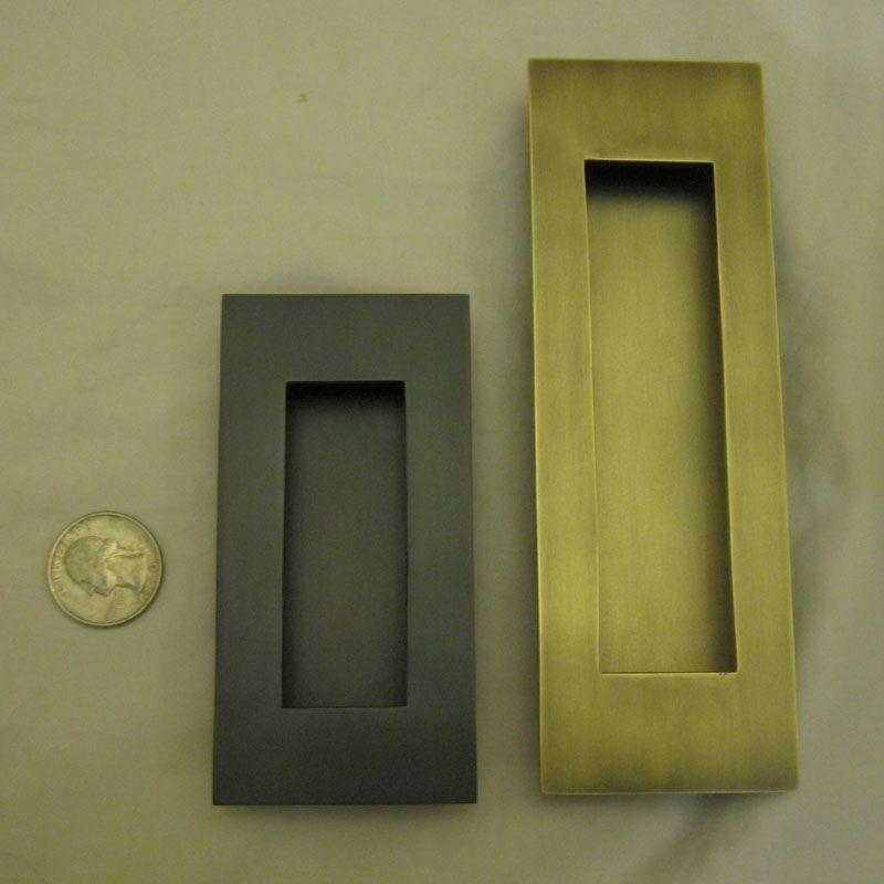 Cabinet Pocket Door Hardware flush pull rectangle | sliding door handles, brass cabinet pulls