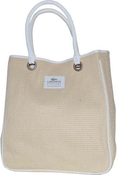 Lacoste Eau de Lacoste Beach Bag is the perfect summer accessory. This  medium sized straw 6a00d08678d02
