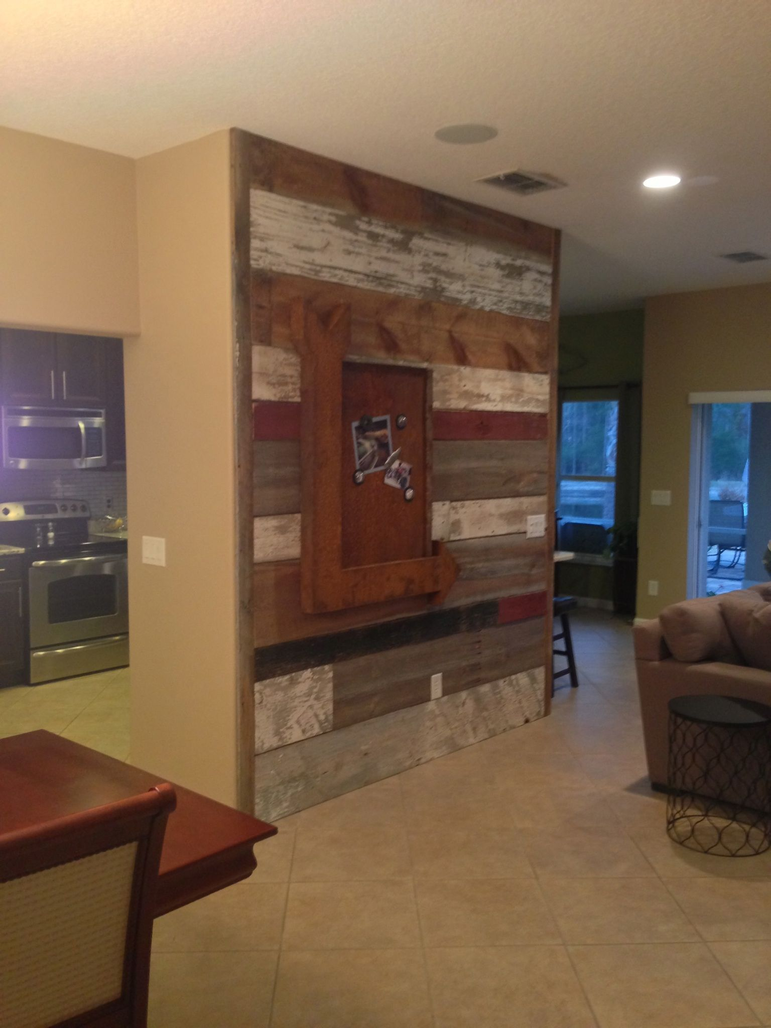 Reclaimed Mixed Barn Board Art Wall crafted/designed by ...