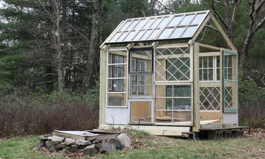 Greenhouse Constructed Using Antique Windows