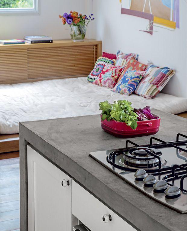 Bancada Cozinha Concreto Cozinha Pequena Bancadas De Cozinha Em