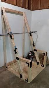 image result for wooden workout bench  squat rack diy
