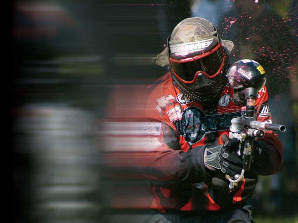 The Moment You Get Hit Paintball Action Wallpaper Outdoors Adventure