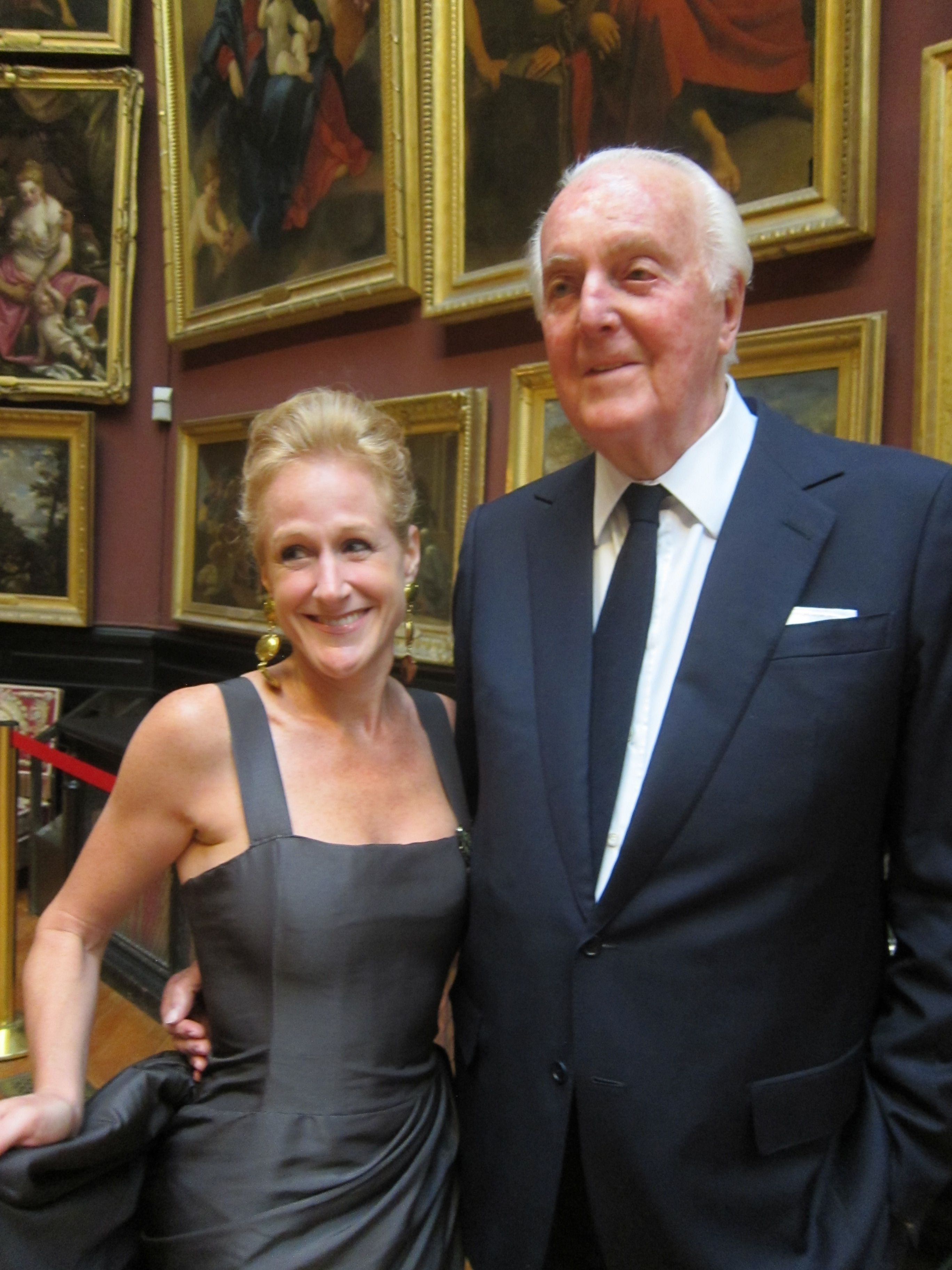 with Hubert de Givenchy at Chantilly