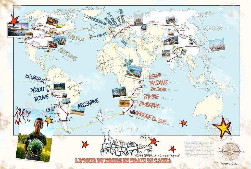 Le tour du monde en train de Sacha