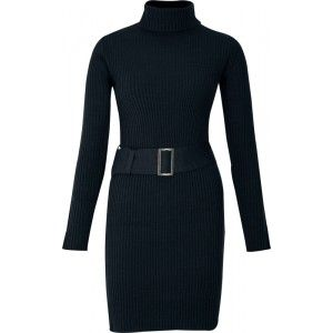 Ik vond dit op Beslist.nl: gebreide jurk lange mouw in zwart - BODYFLIRT