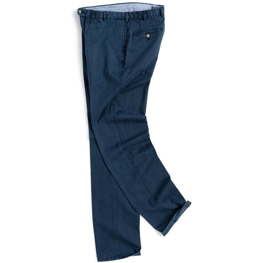 a9583736c7b3 PETER Millar PANTS 34 31 Blue NAVY Washed RALEIGH Flat FRONT Chinos PIMA  Cotton