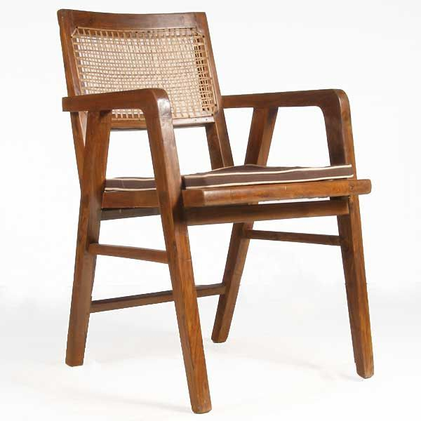 Pierre Jeanneret Caned Teak Armchair From Chandigarh India Swiss 1896 1967 This Mid Century Teak Armchair Iconic Furniture Design Mid Century Modern Chair
