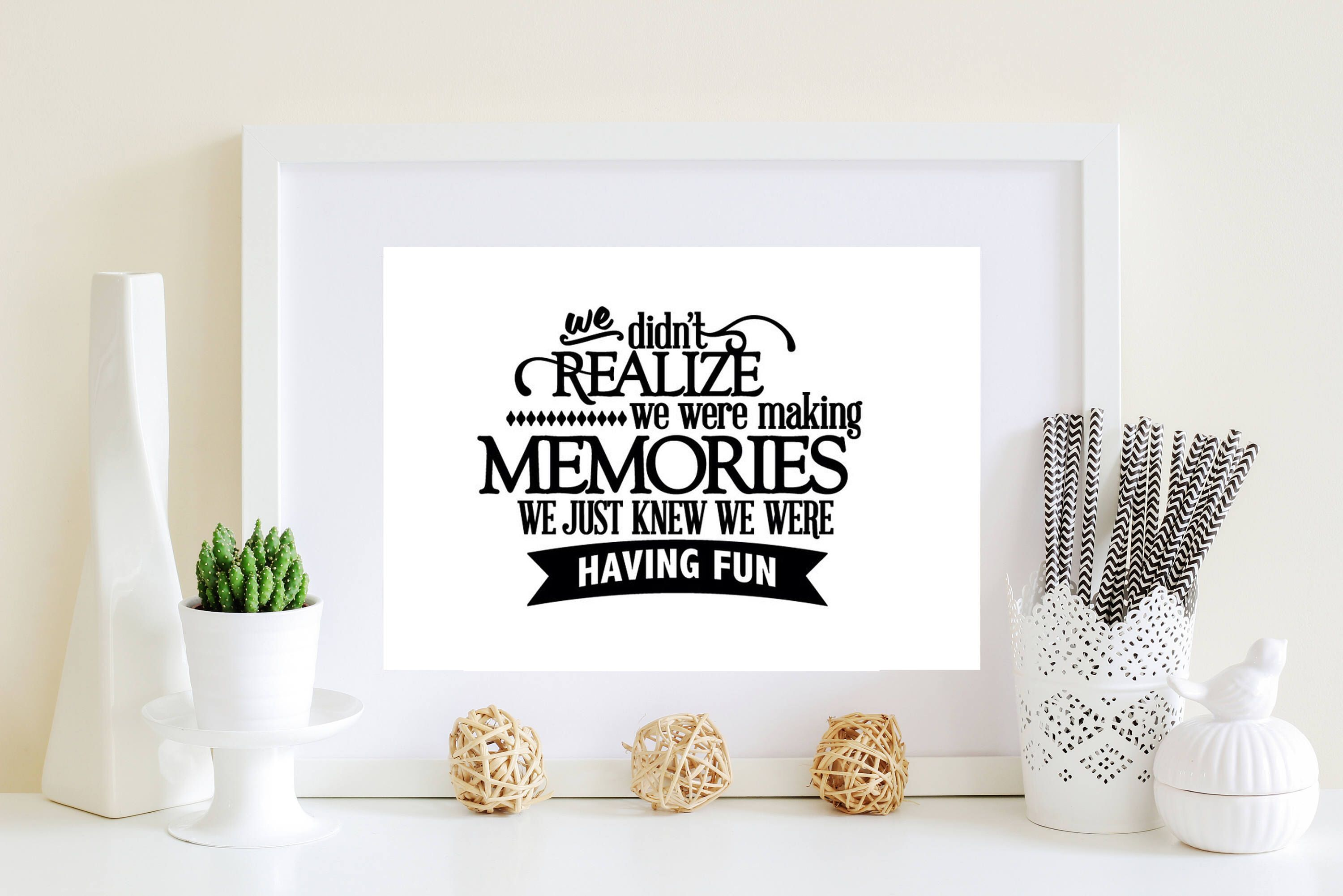 8x10 Decal Vinyl Letters Easy Gift Gift For Mom Diy Gift Sentimental Quote Vinyl Sticker We Didn T Realize We Were Making Memories With Images Vinyl Wall Decals Vinyl Lettering Wall Decals