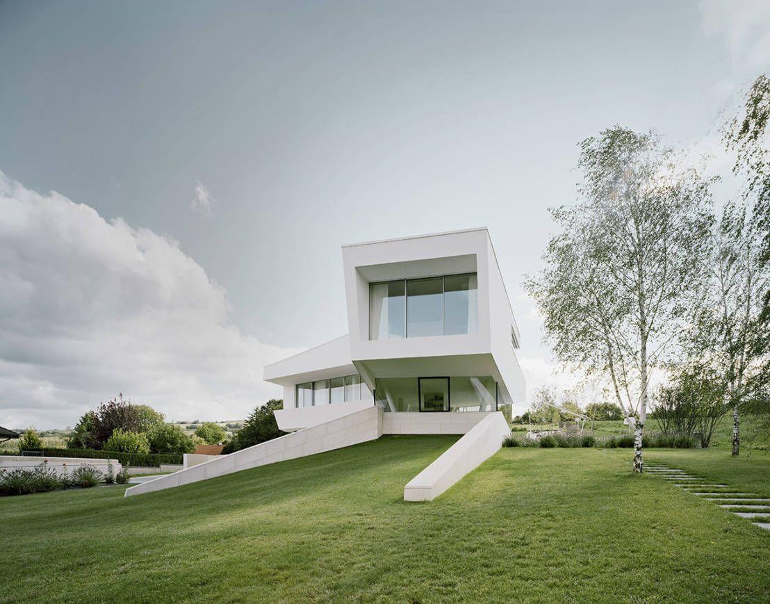 360 moderne weiße villa