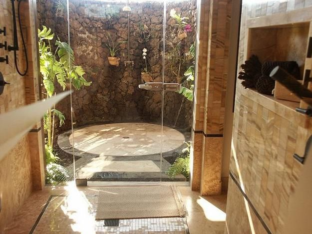 30 Outdoor Shower Design Ideas Showing Beautiful Tiled And Stone Walls Outdoor Bathrooms Outdoor Shower Rustic Outdoor