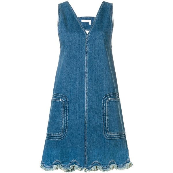 Latest Online Buy Cheap How Much v-neck denim dress - Blue See By Chloé Buy Cheap Sast Cheap Sale Order Xf6oHZp