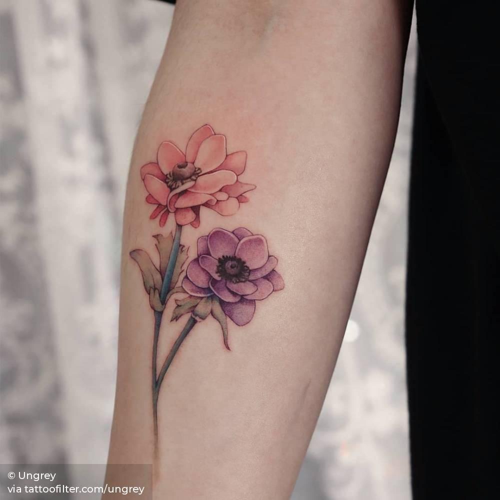 Anemones Tattoo Artists Tattoos Jewelry Tattoo