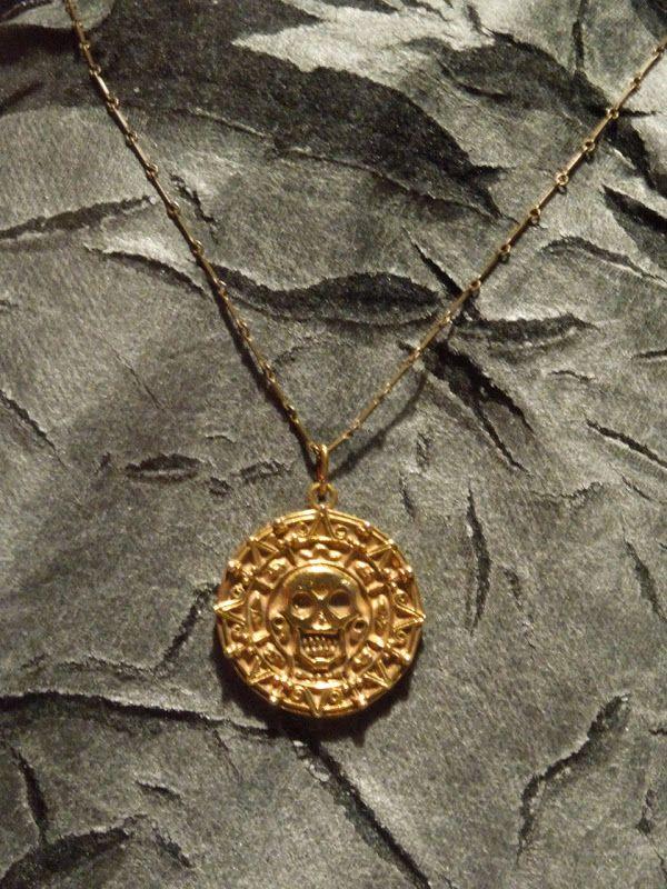 Pirates Caribbean Aztec Gold Medallion