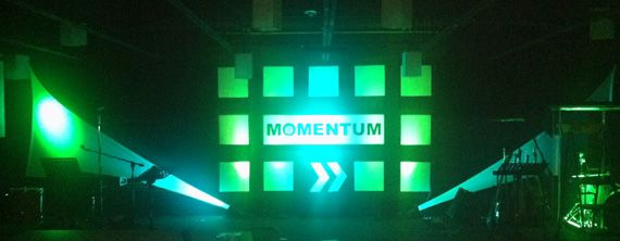"""Stage design for """"Momentum"""" theme"""