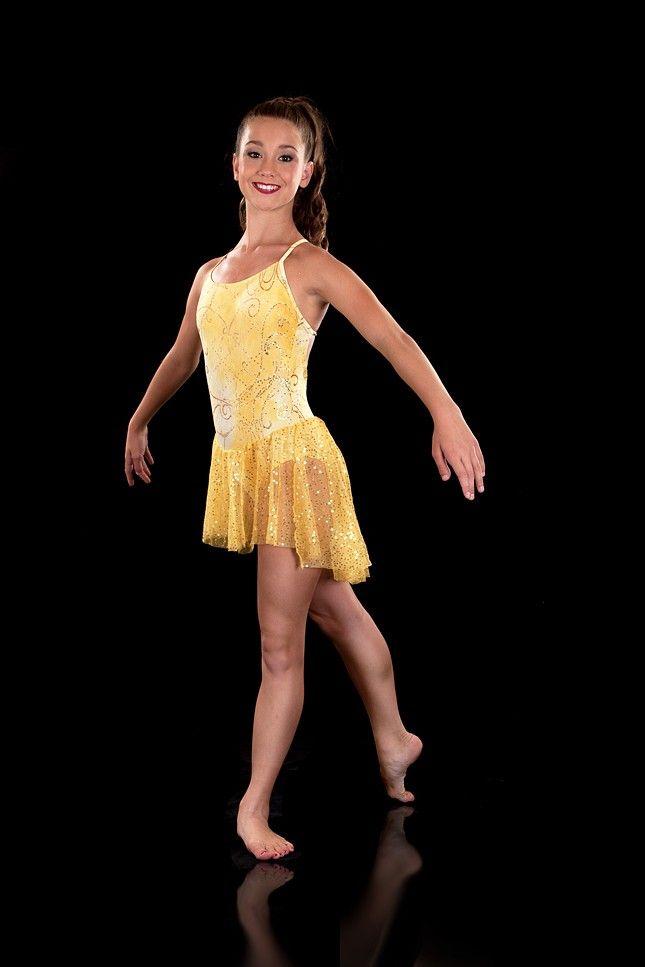 dfe2009533bf Slow Modern Dress - Shine Yellow & Gold Dance Costume - Lyrical Dress