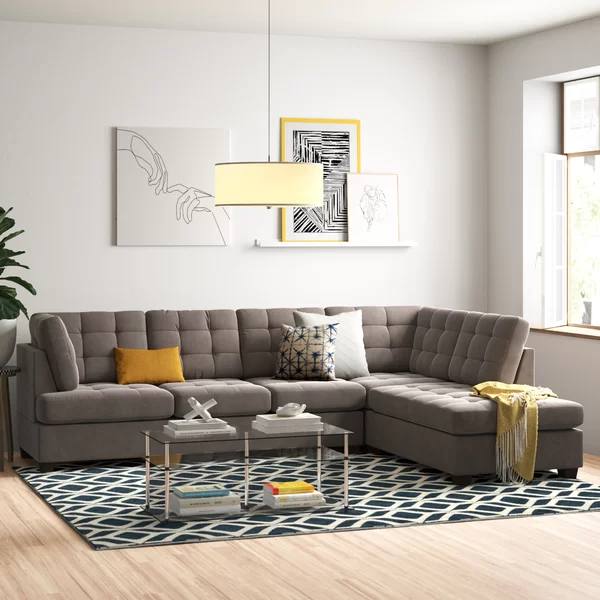 Giovanny Reversible Sectional Sectional Sofa Best Sectionals