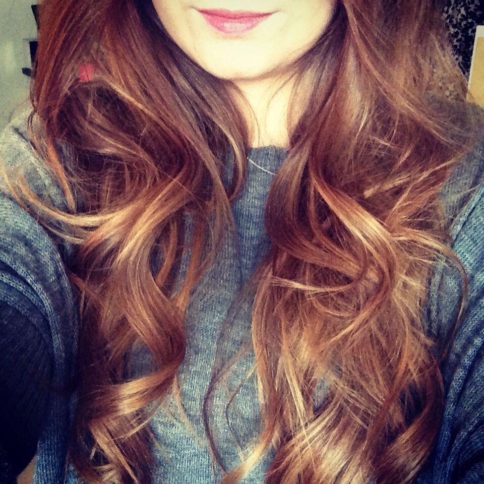 Auburn to caramel ombré hair | Caramel ombre hair, Ombre ...