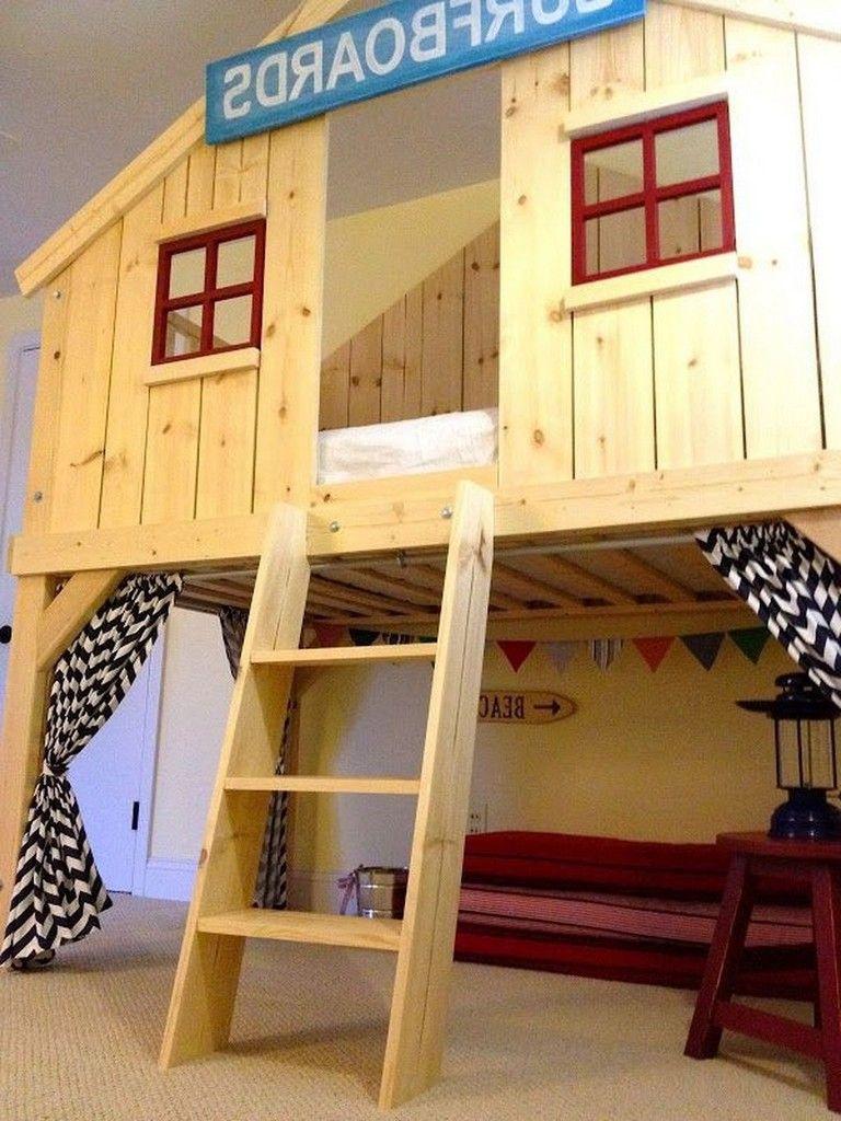 Loft bed ideas for kids   Amazing Kids Beds Loft Bunk Bed Furniture Ideas furnituredesign