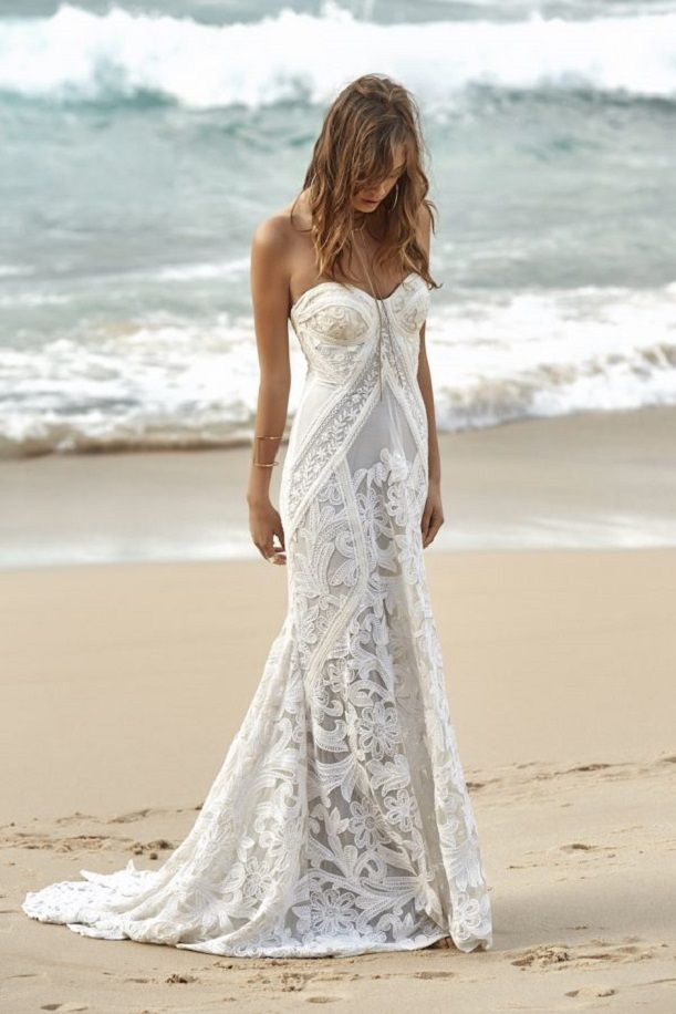 Gorgeous bohemian wedding dress | Beach Wedding dress #weddingdress #weddinggown #weddingdresses #bohowedding , wedding dresses ,wedding gowns