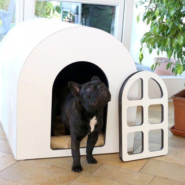 Indoor Hundehutte Mit Turchen Design2pet Hunde Hundehutte Hundekorb