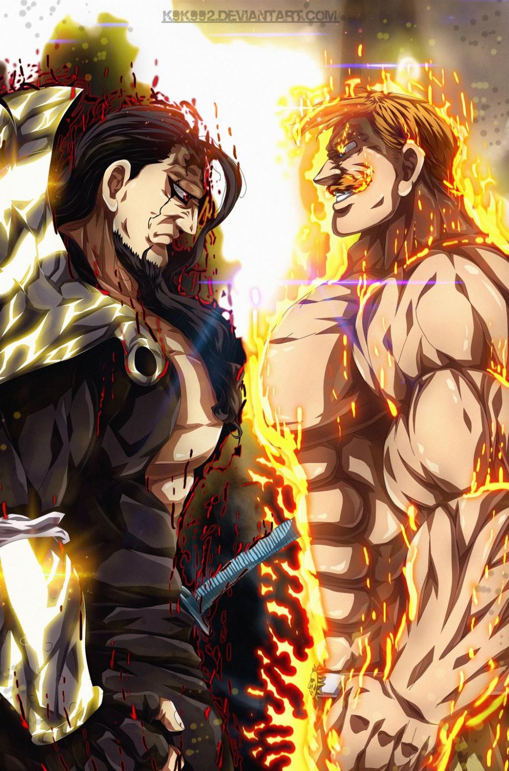 Escanor The One Vs Zeldris Demon King By K9k992 On Deviantart Demon King Anime Seven Deadly Sins Anime Anime