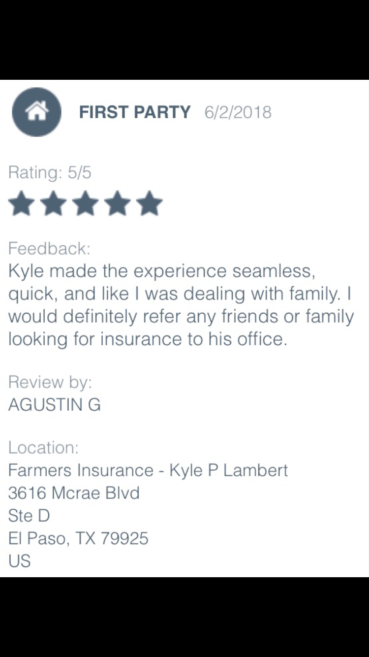 Farmers insurance image by Agent Kyle P. Lambert on