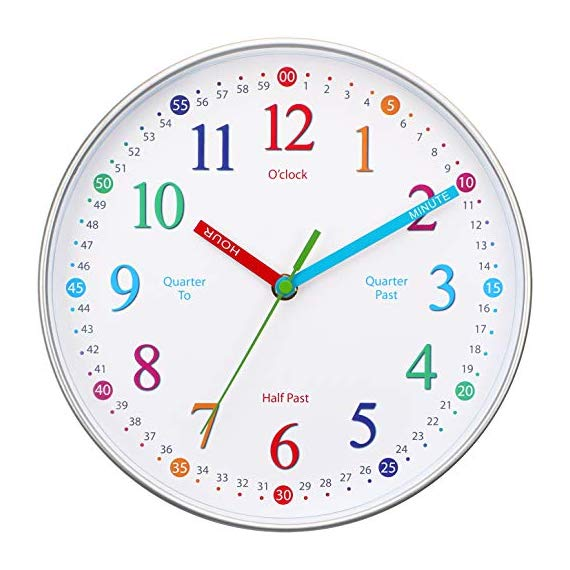 Wise Hedgehog Telling Time Teaching Clock Silent Non Ticking Analog Battery Operated Learning Clock For Kids Perfect Room Wall Decor For School Classrooms Playrooms And Kids Bedrooms Clock For Kids