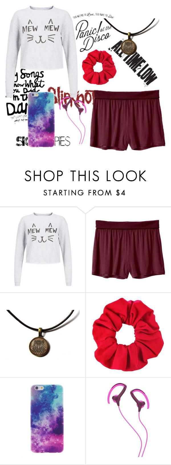 """I'm just gonna stay in bed all day"" by scullbelle ❤ liked on Polyvore featuring мода, Mew., Body by Victoria и Skullcandy"