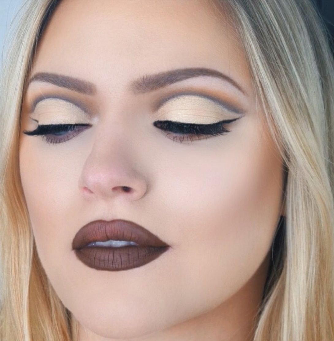 Cut crease for hooded & uneven eyes Makeup Pinterest