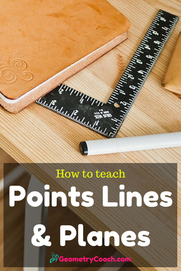 Points Lines and Planes Worksheets Geometry lessons