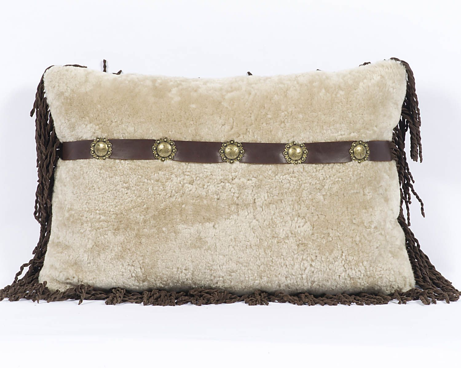 Sheep skin pillow for your mountain home