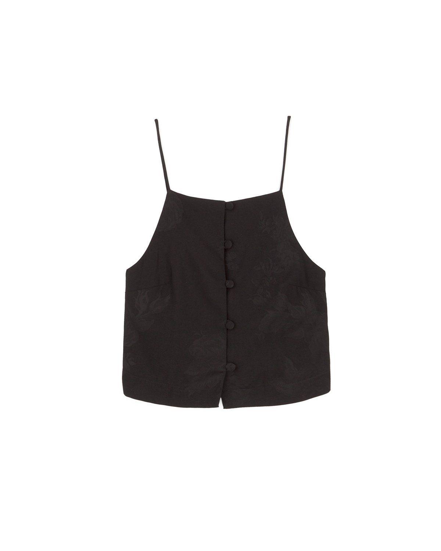 a39743e599 FLEUR - Tie detail top - Black | SS18 items | Black tops, Tops, Black
