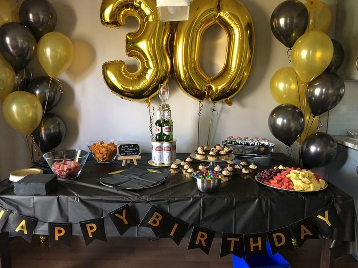 30th Birthday Decor For Him 2019 With Images 30th Birthday