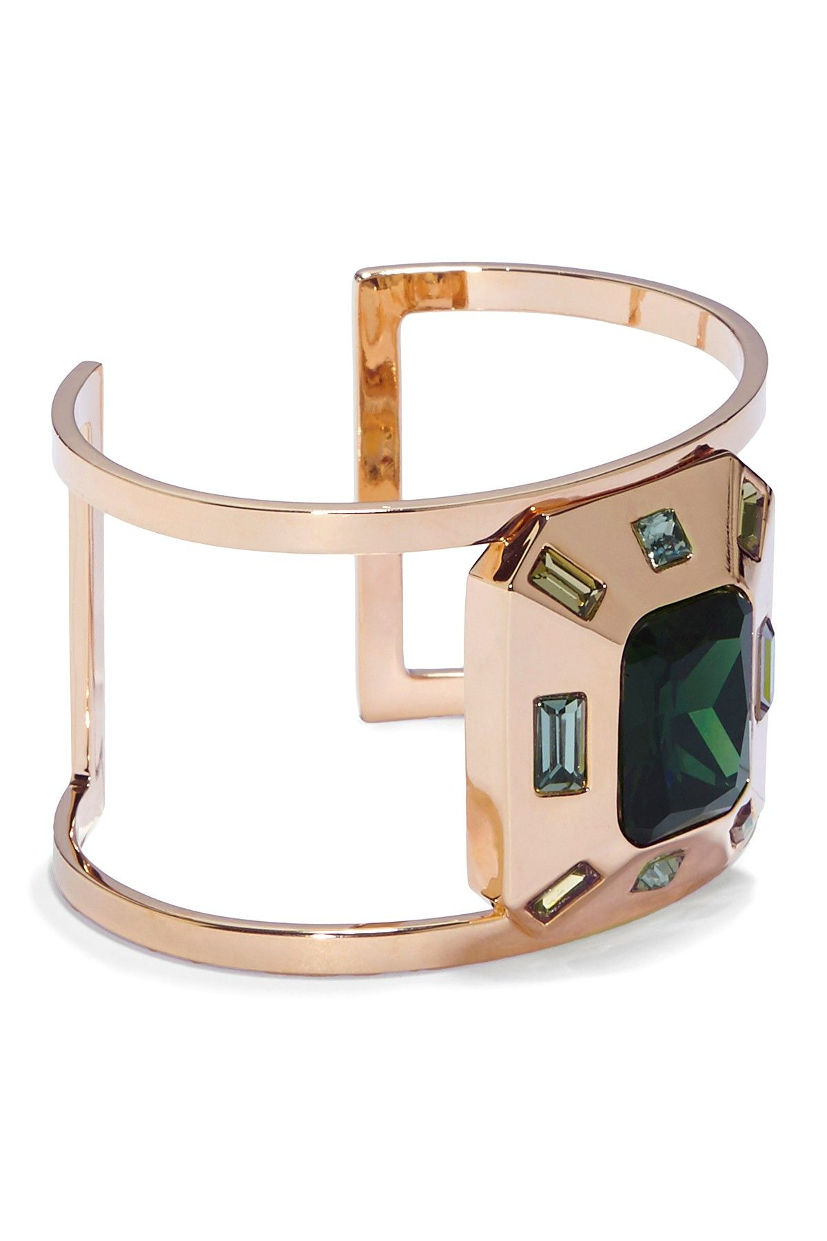 62c843868d3 Vince Camuto | Faceted Crystal Statement T-Bar Cuff | Products ...