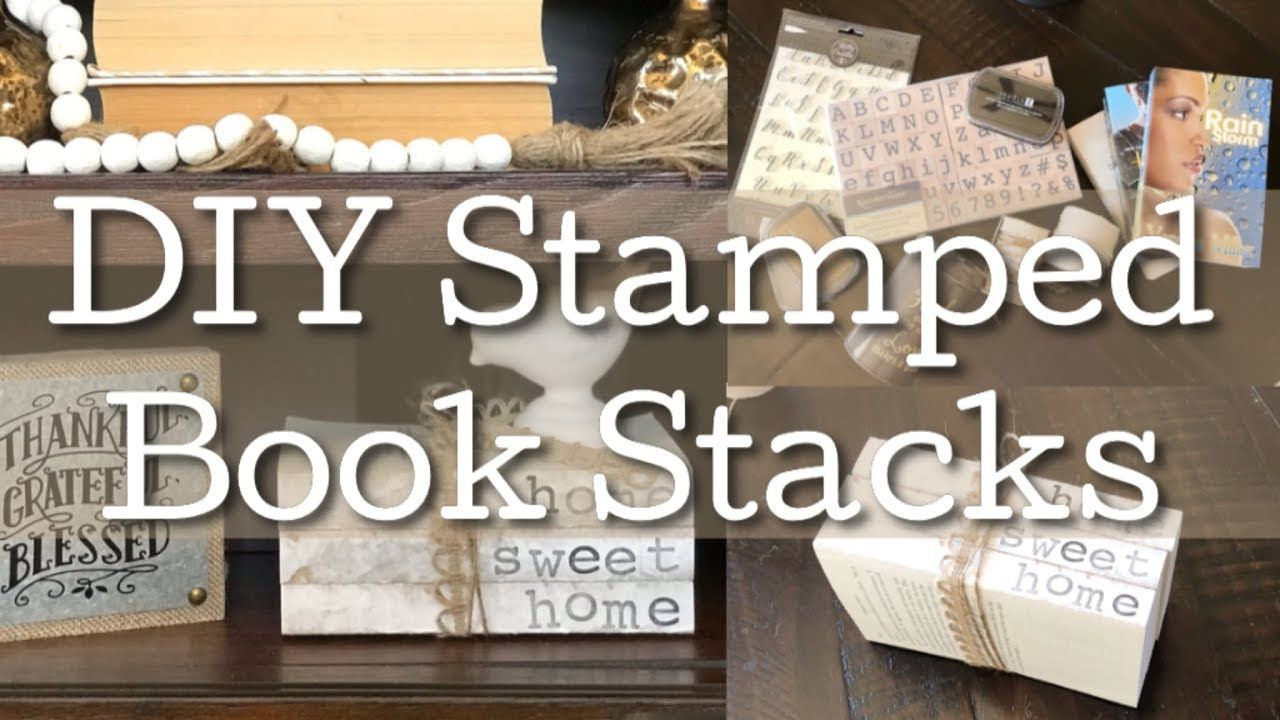 DIY Personalized Stamped Stacked Books/ Farmhouse DIY Home