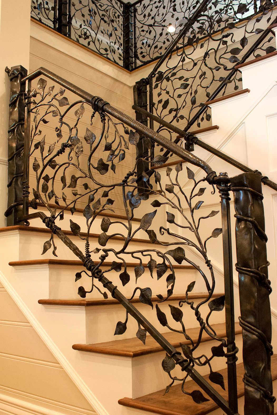 Gorgeous Wrought Iron Vine And Leaf Railings Handmade At A Small