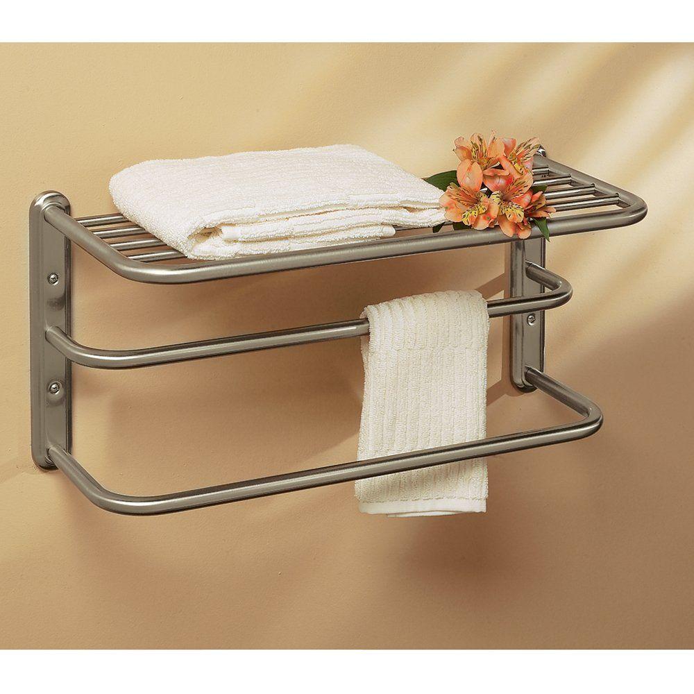 Gatco 1541sn 10 Inch By 20 Towel Rack Satin Nickel