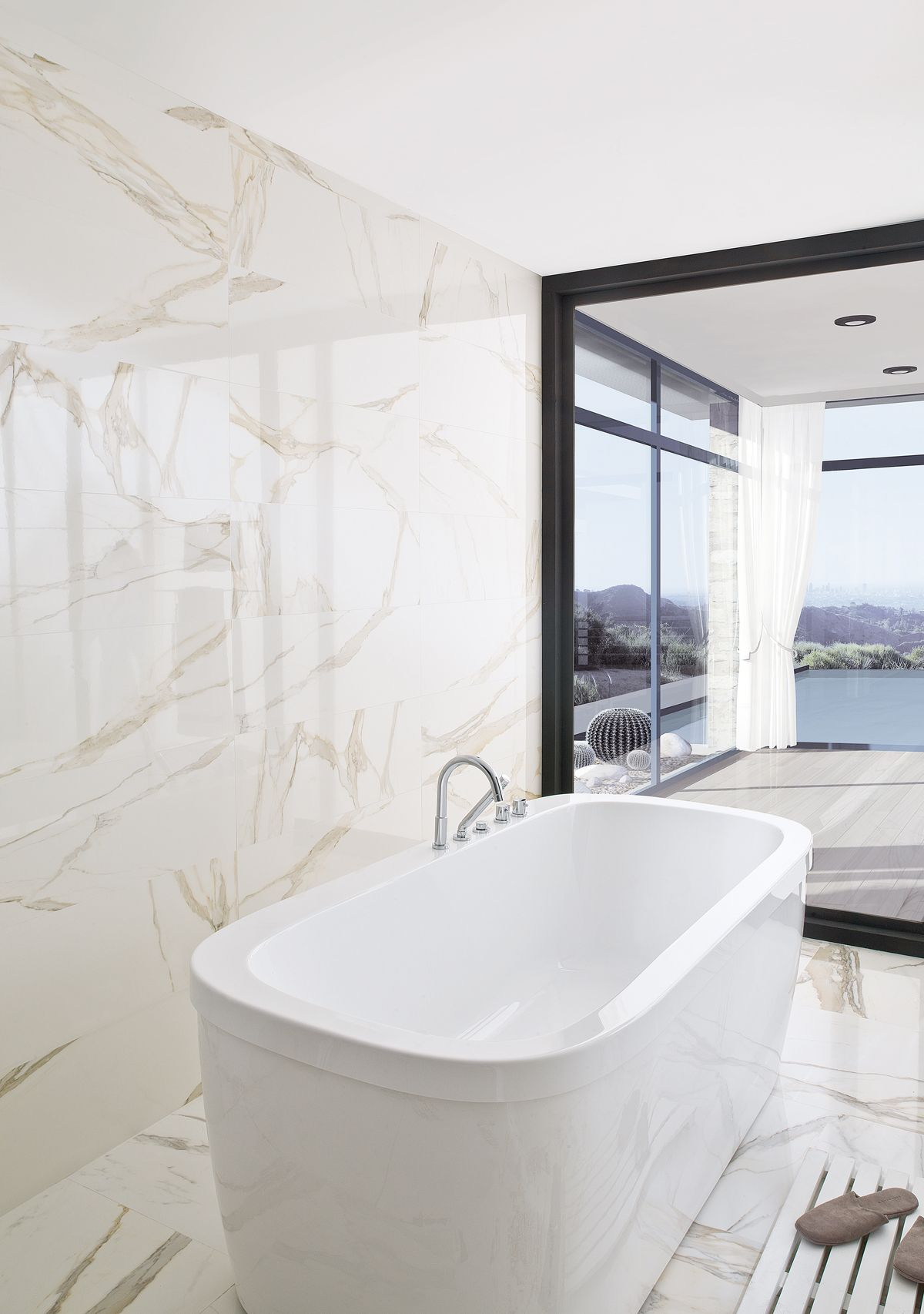 porcelanosa calacata nature inspired tile part of the tile of