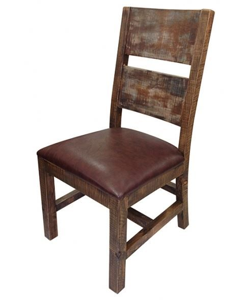 Distressed Wood Chairs With Upholstered Seats Urban Rustic Collection Dining Chair Design 8