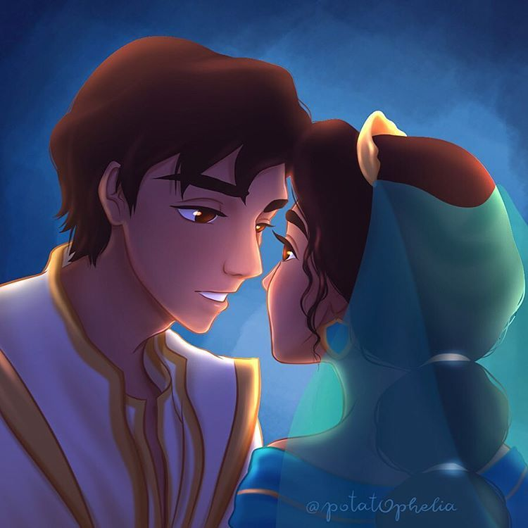 Here S A Quick Doodle Of Aladdin And Jasmine In The New Live