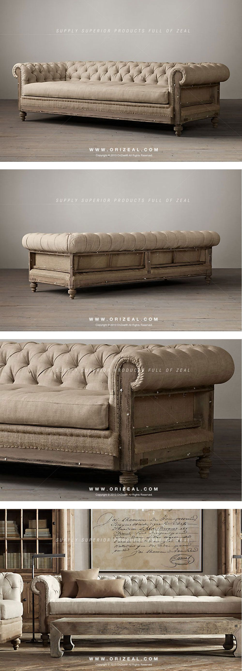 Orizeal Classic French Style Furniture Deconstructed Sofa With Old