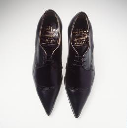 Blue knee high boots, Dress shoes men