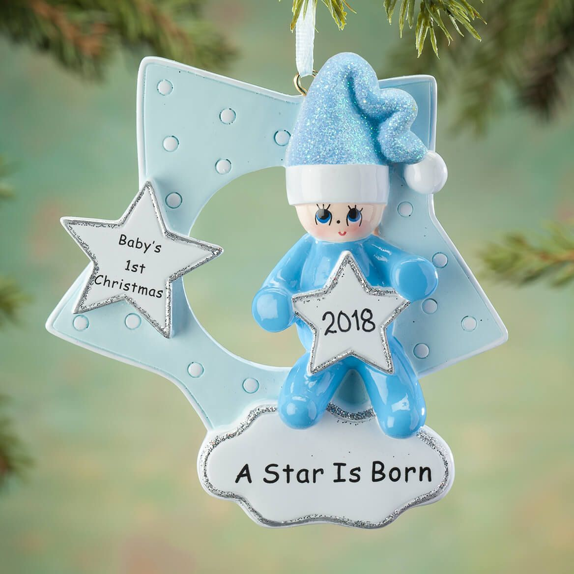 e91ae1db24409 Commemorate baby s first Christmas with our Personalized A Star Is Born  Ornament. Celebrating the year