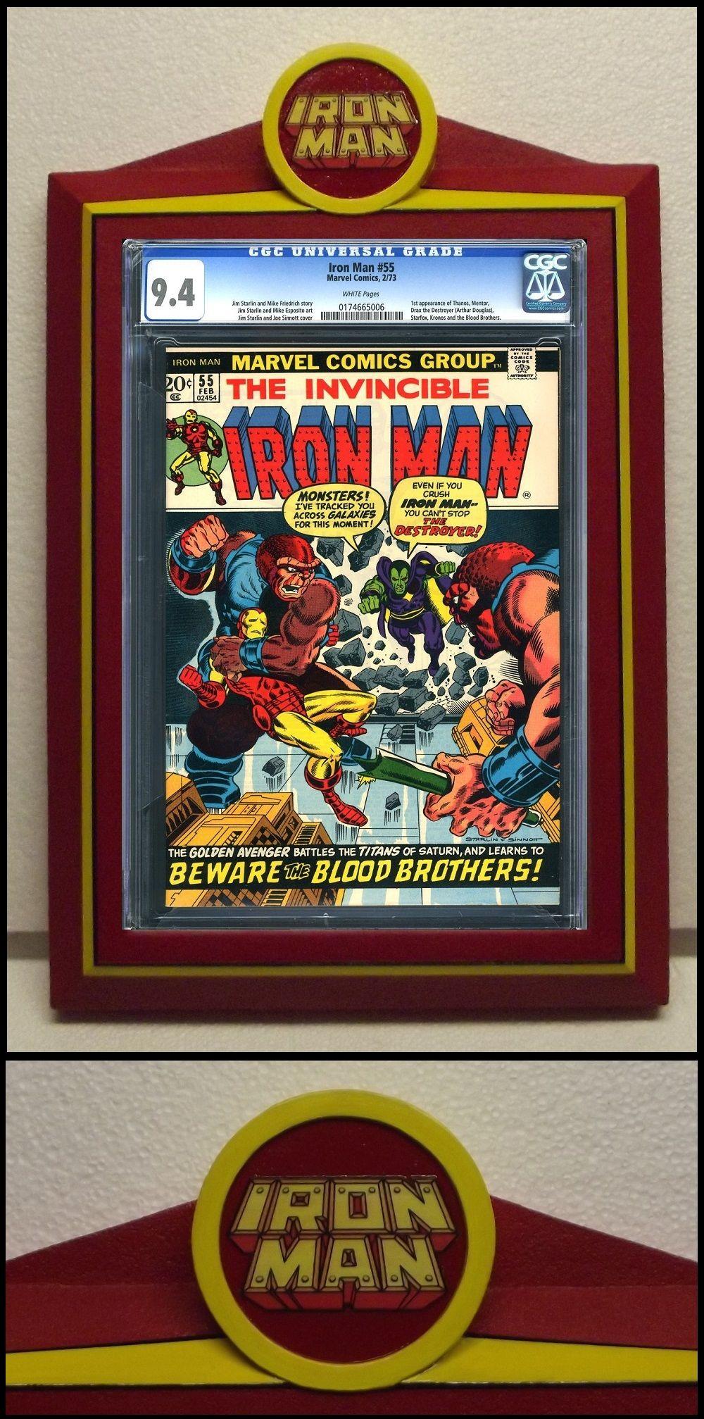 Custom Iron Man Cgc Comic Book Frame