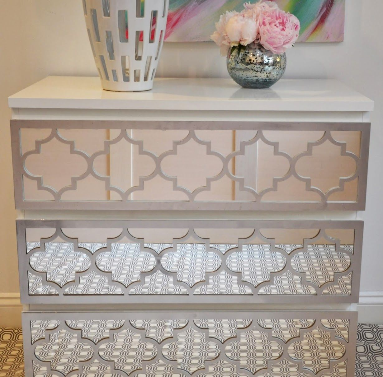 Overlay jasmine kit for ikea malm 3 drawer dresser love for Mirror with drawers ikea