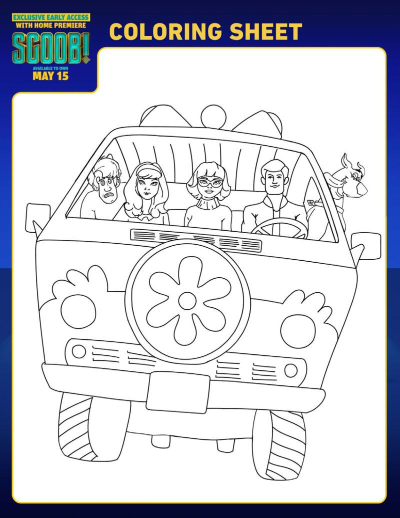 Scooby Doo Mystery Machine Coloring Pages Scooby Doo Mystery Machine Scooby Doo Coloring Pages Scooby Doo Mystery Scooby Doo Birthday Party