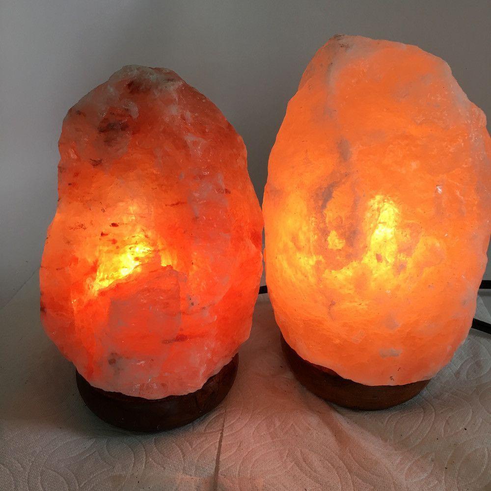 2x Himalaya Natural Handcraft Rough Raw Crystal Salt Lamp