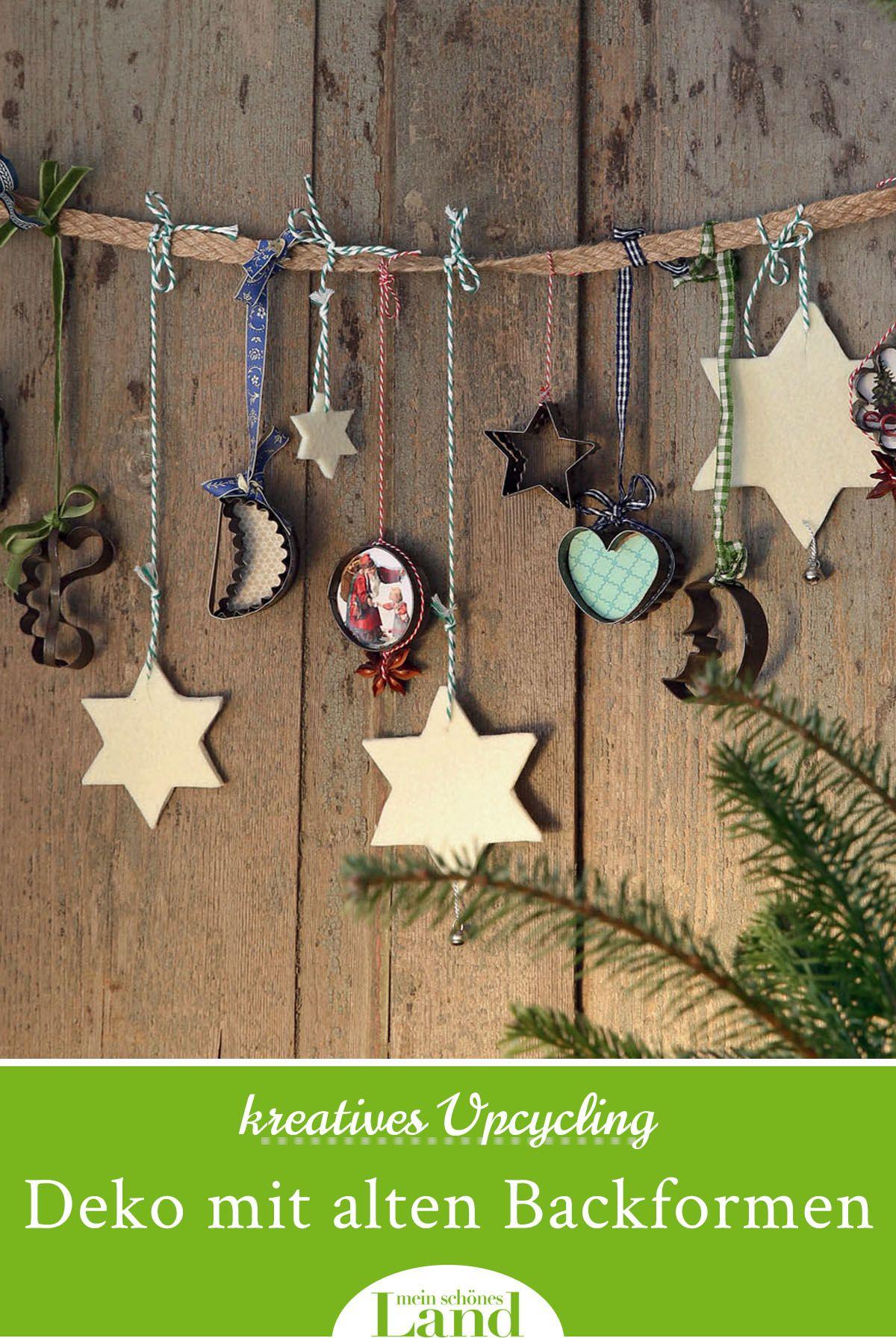 Upcycling: Weihnachtsdeko mit alten Backformen